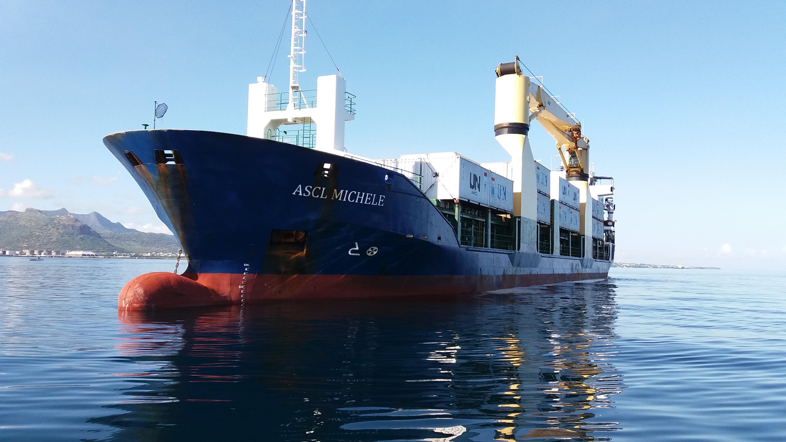 Cruise Vessel at Port Louis Mauritius